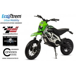 Moto Cross eléctrica infantil, color Verde