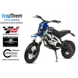 Moto Cross eléctrica infantil, color AZUL