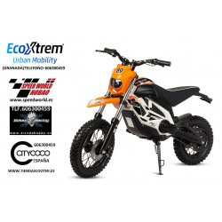 Moto Cross eléctrica infantil, color NARANJA